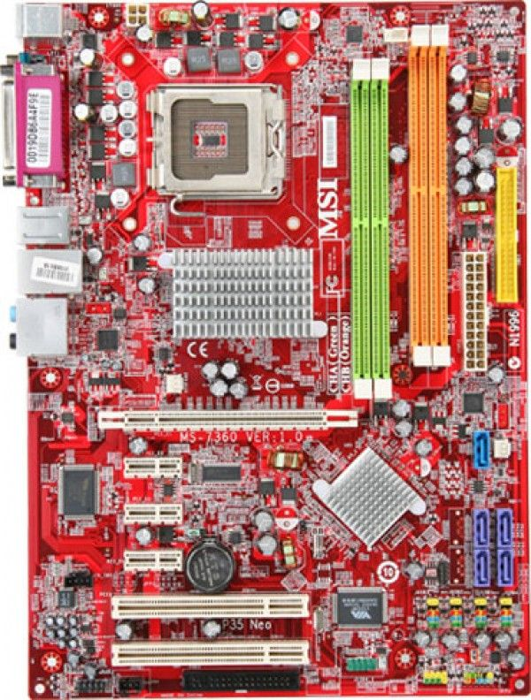 MSI MS-7360 Neo F (LGA775, DDR2x4 800 up to 8GB, ATX) (Б/У)