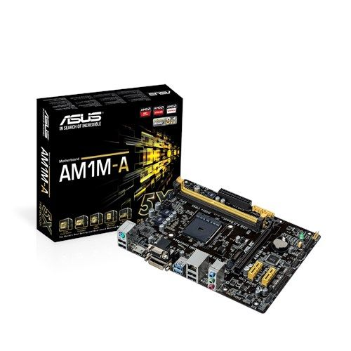 Asus AM1M-A (AM1, 2xDDR3 1866 up to 32GB, D-Sub, DVI, HDMI, mATX) (Б/У)