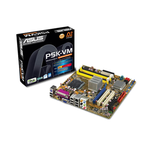 Asus P5K-VM (LGA775, 4xDDR2 800 up to 8Gb, VGA, mATX)(Б/У)